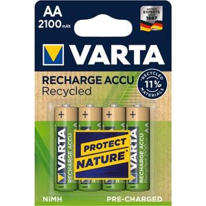 Varta 56816 Recharge Accu Recycled AA/Mignon Akku 4-Blister