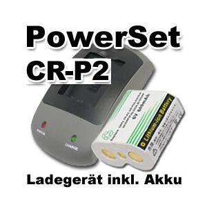 AccuPower Schnellladegerät CR-P2P PowerSet inkl. Li-ion Akku