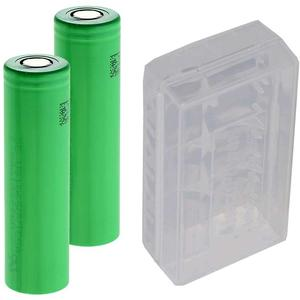 Sony US18650VTC5 Li-Ion Akku 18650 30A 2600mAh 2-Pack mit AccuSafe AkkuBox