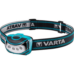 Varta LEDx4 Outdoor Sport H10 Stirnleuchte, Kopflampe mit 3x AAA Batterien