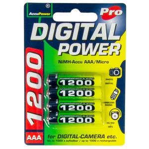 AccuPower AP1200-4 AAA/Micro/LR03/MN2400 Akku 4-Pack NiMH 1200mAh