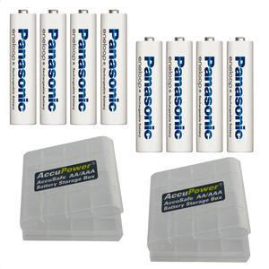 Panasonic Eneloop Plus AAA/Micro Akkus 8 Stk.+ 2x AccuPower Akkubox