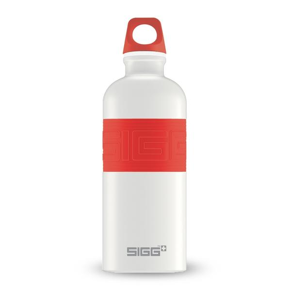SIGG CYD Trinkflasche Pure White Touch Red 0.6L