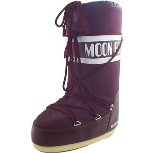 Nylon Damen Moonboots, burgundy