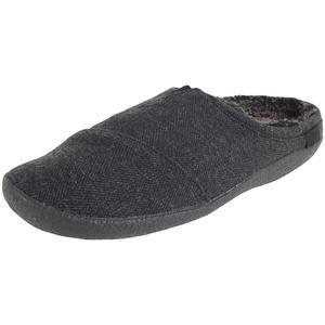 Berkeley Herren Pantoffeln, schwarz-meliert (black herringbone)