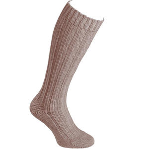 Alpaka Stutzen Dick Unisex Woll-Socken, hellbraun