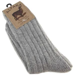 Alpaka Unisex Socken Dick, grau