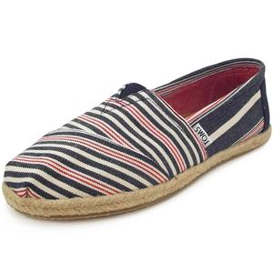 Classic Stripe Rope Wm Damen Espadrilles, dunkelblau/rot (navy/red woven)