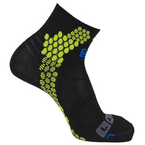 S-Lab Performance Sock Unisex Laufsocken, galet grey/granny green