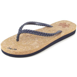 Slim Layer Cork Damen Flipflops, corkbraun/dunkelblau (deep night)