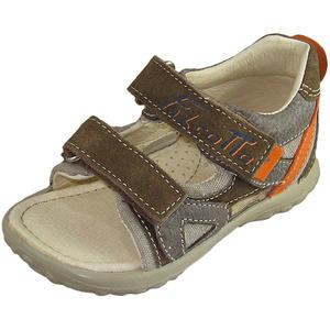 149 Kleinkinder Sandalen, braun/mehrfarbig