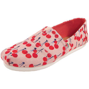 Classic Cherie Print Youth Mädchen Espadrilles, rosa (coral pink/cherry)