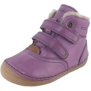 Lammfell Stiefelette Mädchen Winterstiefel, violett (purple)