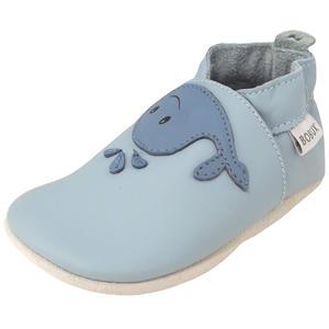Whale Baby Krabbelschuhe, hellblau (blue haze)