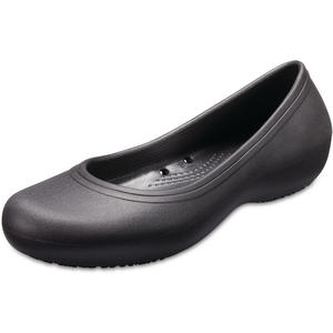 at Work Flat Damen Arbeits-Ballerina, schwarz (black)