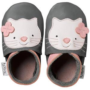 Grey Kitten Baby Krabbelschuhe, grau/rosa