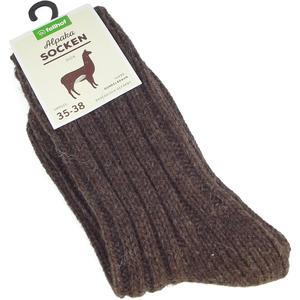 Alpaka Unisex Socken Dick, dunkelbraun