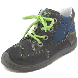 Softtippo Kinder Schnürschuhe, grau/blau/grün (stone kombi)
