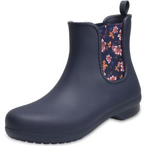 Freesail Chelsea Boot Damen Regenstiefel, dunkelblau (navy/floral)