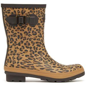 Molly Welly Damen Mittelhohe Gummistiefel, Gelbbrauner Leopard