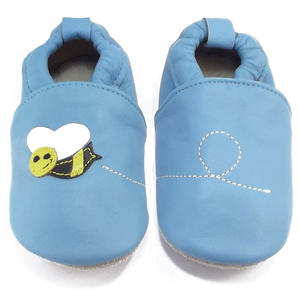 Little Grubs Bee Baby Krabbelschuhe, blau