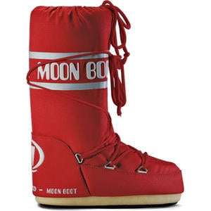 Nylon Unisex Moonboots, red