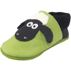 Shaun das Schaf Kleinkinder Krabbelschuhe, grün/schwarz (pistazie/nero)