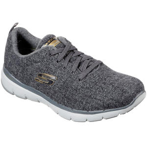 Wash-A-Wool Flex Appeal Plush Joy Damen Walking-Sneaker, charcoal
