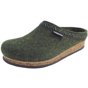 108 Unisex Wollfilz-Pantoffeln, Dunkelgrün (Green)