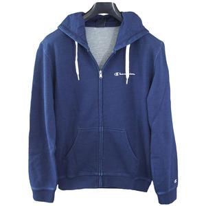 Full Zip Cotton Hoodie Herren Kapuzenjacke, dunkelblau (indigo blue)