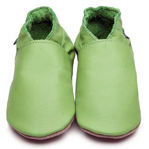 Plain Baby Krabbelschuhe, grün