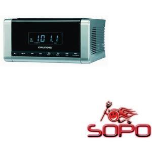 Grundig CCD 5690 SPCD Silber-Schwarz Uhrenradio