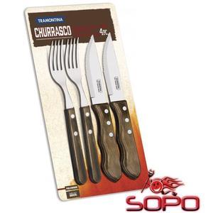 Tramontina Jumbo Steakbesteck braun 4-teilig (2x Messer, 2x Gabel) Art.Nr.: 3