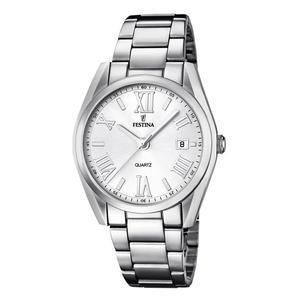 Festina Damen Armbanduhr Mademoiselle Analog mit Datumsanzeige Weiß F16790/1