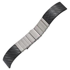 Uhrenansatzband Carb/Ed Edelstahl