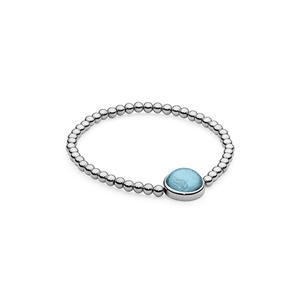 Qudo Schmuck Caneva Damen Armband aus Edelstahl in silber - Stein türkis