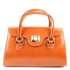 Lucy Damen Handtasche Elegant Leder Orange
