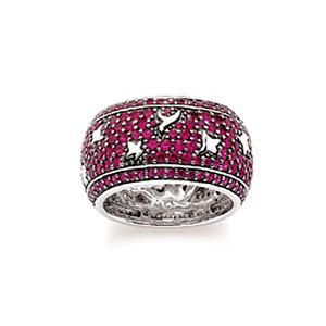 Dunia Damen Ring, Silber rhodiniert, Gr.56