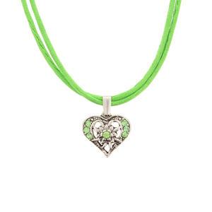 Damen Trachtenkette Herz in hellgrün