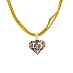 Damen Trachtenkette Herz in gold