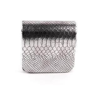 Azone Damen Abendtasche Clutch Silber