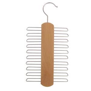 2 Stk. Hagspiel Kleiderbügel aus Holz, Buche, Krawattenhalter aus Buchenholz für 20 Krawatten