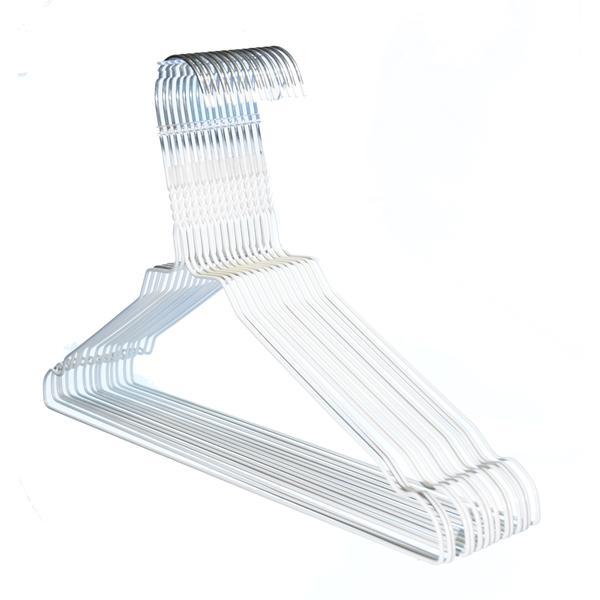 50 St. Hagspiel Reinigungsbügel Drahtbügel weiß pulverbeschichtet