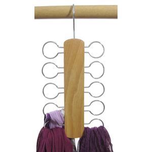 2 Stk. Hagspiel Kleiderbügel aus Holz, Buche,Tücherhalter aus Buchenholz für 10 Tücher