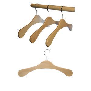 5 St. Hagspiel Kleiderbügel aus Holz, Buche, Garderobenbügel aus Buchenholz (Vollholz), natur lackiert, Made in Austria