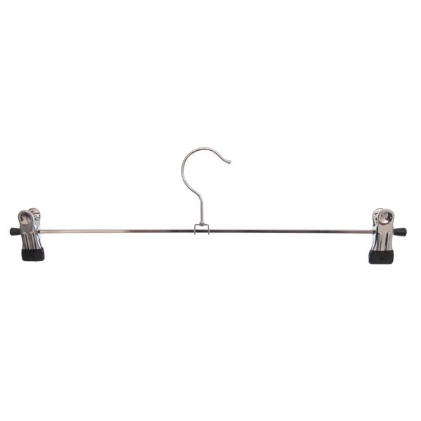 10 Stk. Hagspiel Kleiderbügel aus Metall, Klammernbügel 40 cm, mit 2 verschiebbaren Metallklammern