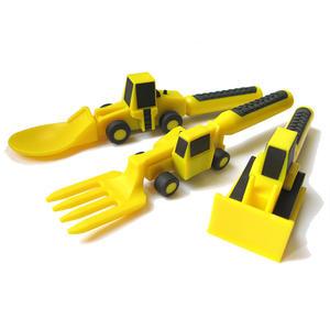 Baumeister-Besteck, 3-teilig, Kinder Besteck für kleine Baumeister