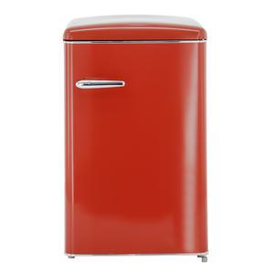 Exquisit RKS 120-16 RVA++ Rot Retro Kühlschrank ohne Gefrierfach