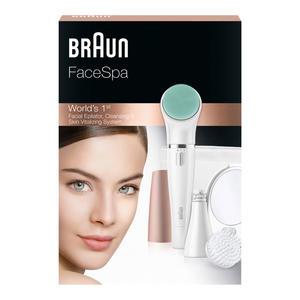 Braun Face 851V Gesichtsreinigungsbürste und Epilierer, Beauty Edition, Bronze