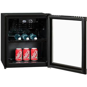Exquisit KB 01-4.2 G sw Schwarz Mini Kühlschrank mit Glastüre
